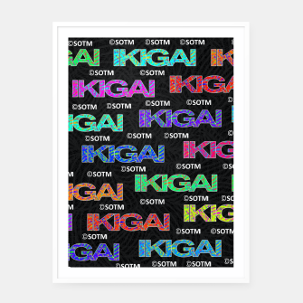Thumbnail image of IKIGAI Framed poster, Live Heroes