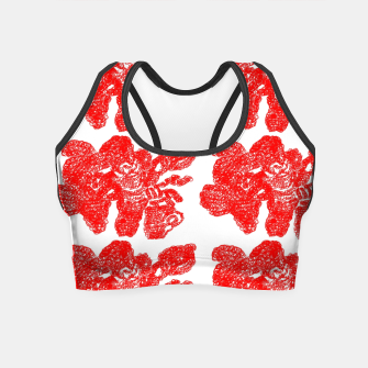 Miniaturka Red splash Crop Top, Live Heroes