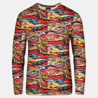 Thumbnail image of repeat defeat  Unisex sweater, Live Heroes