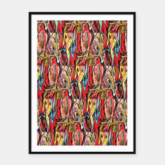 Thumbnail image of repeat defeat  Framed poster, Live Heroes