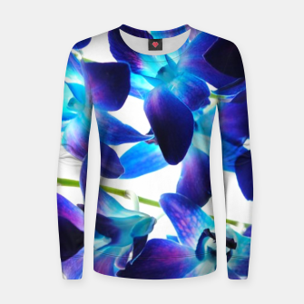 Thumbnail image of Purple  Orchids Women sweater, Live Heroes