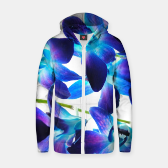 Thumbnail image of Purple  Orchids Zip up hoodie, Live Heroes