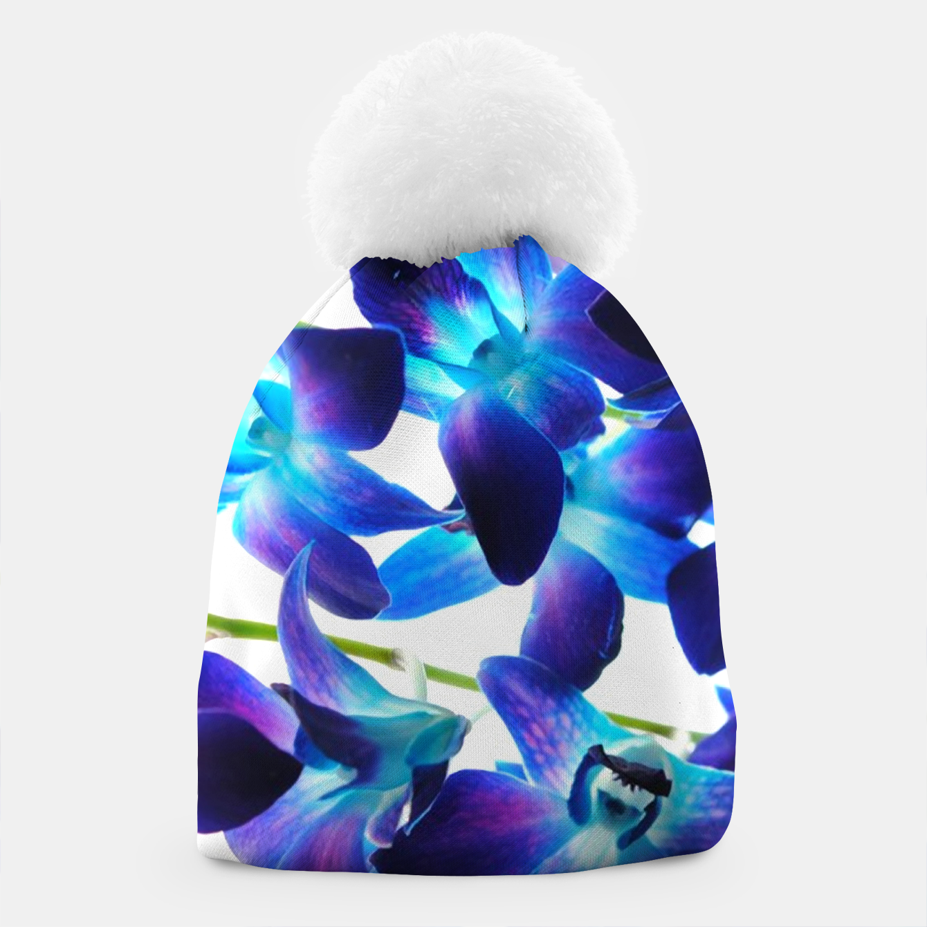 Image of Purple  Orchids Beanie - Live Heroes