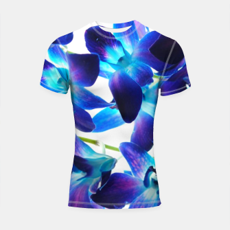 Thumbnail image of Purple  Orchids Shortsleeve rashguard, Live Heroes