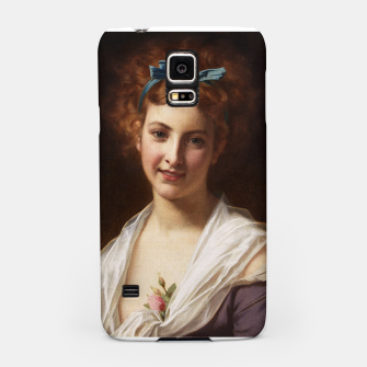 Miniaturka Young Lady With Blue Bow Fine Art Portrait Samsung Case, Live Heroes