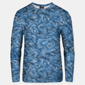 Thumbnail image of Ocean Waves in Classic Blue Unisex sweater, Live Heroes