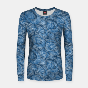 Thumbnail image of Ocean Waves in Classic Blue Women sweater, Live Heroes
