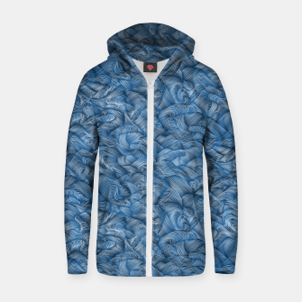 Thumbnail image of Ocean Waves in Classic Blue Zip up hoodie, Live Heroes