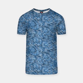 Thumbnail image of Ocean Waves in Classic Blue T-shirt, Live Heroes