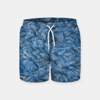 Thumbnail image of Ocean Waves in Classic Blue Swim Shorts, Live Heroes