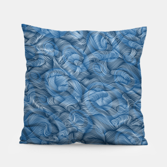 Thumbnail image of Ocean Waves in Classic Blue Pillow, Live Heroes