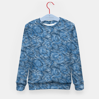 Thumbnail image of Ocean Waves in Classic Blue Kid's sweater, Live Heroes