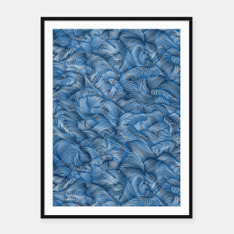 Thumbnail image of Ocean Waves in Classic Blue Framed poster, Live Heroes