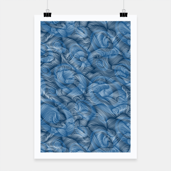 Thumbnail image of Ocean Waves in Classic Blue Poster, Live Heroes