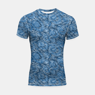 Thumbnail image of Ocean Waves in Classic Blue Shortsleeve rashguard, Live Heroes