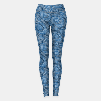 Thumbnail image of Ocean Waves in Classic Blue Leggings, Live Heroes