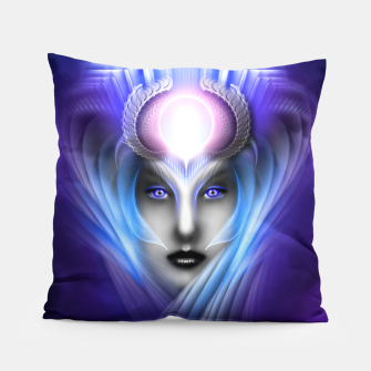 Miniatur What Dreams Are Made Of Ethereal Clouds Fractal Art Pillow, Live Heroes