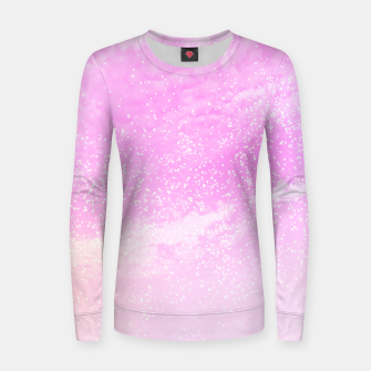 Thumbnail image of Cosmic pastel pink sky ( digital watercolor ) Women sweater, Live Heroes
