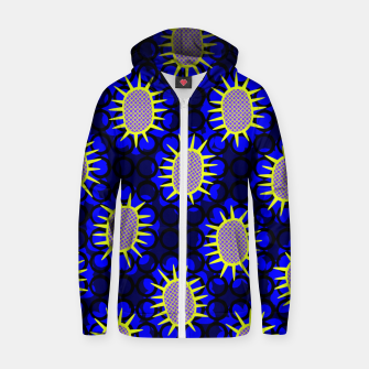 Thumbnail image of African Print Zip up hoodie, Live Heroes