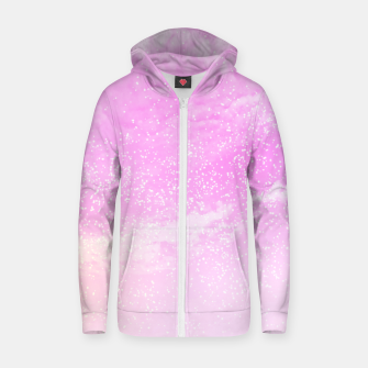 Thumbnail image of Cosmic pastel pink sky ( digital watercolor ) Zip up hoodie, Live Heroes