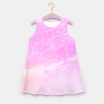 Thumbnail image of Cosmic pastel pink sky ( digital watercolor ) Girl's summer dress, Live Heroes
