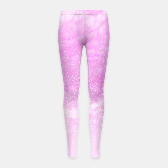 Thumbnail image of Cosmic pastel pink sky ( digital watercolor ) Girl's leggings, Live Heroes