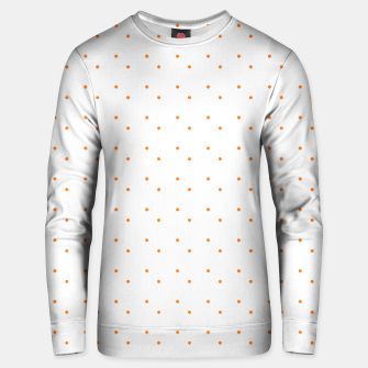 Thumbnail image of cute orange dots pattern Unisex sweater, Live Heroes