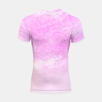 Thumbnail image of Cosmic pastel pink sky ( digital watercolor ) Shortsleeve rashguard, Live Heroes