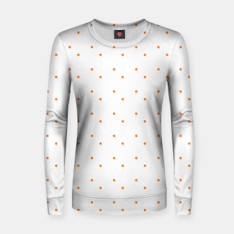 Thumbnail image of cute orange dots pattern Women sweater, Live Heroes