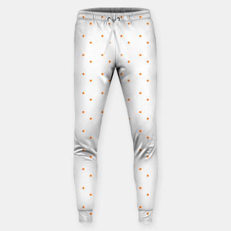 Thumbnail image of cute orange dots pattern Sweatpants, Live Heroes