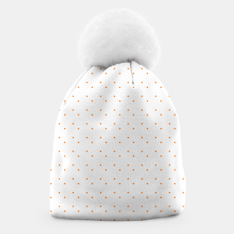 Thumbnail image of cute orange dots pattern Beanie, Live Heroes