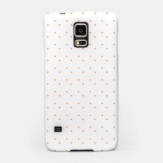 Thumbnail image of cute orange dots pattern Samsung Case, Live Heroes