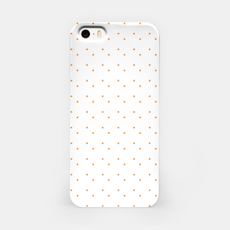 Thumbnail image of cute orange dots pattern iPhone Case, Live Heroes