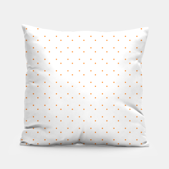 Thumbnail image of cute orange dots pattern Pillow, Live Heroes