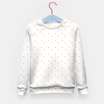 Thumbnail image of cute orange dots pattern Kid's sweater, Live Heroes