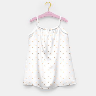 Thumbnail image of cute orange dots pattern Girl's dress, Live Heroes