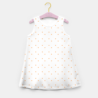 Thumbnail image of cute orange dots pattern Girl's summer dress, Live Heroes