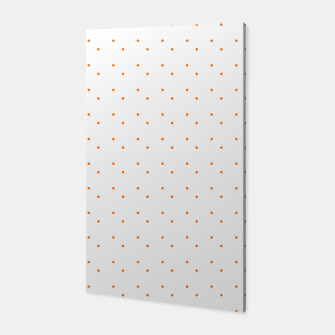 Thumbnail image of cute orange dots pattern Canvas, Live Heroes