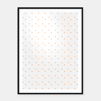 Thumbnail image of cute orange dots pattern Framed poster, Live Heroes