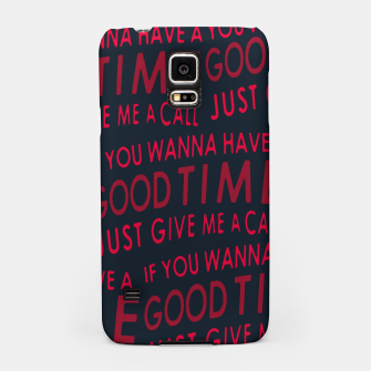 Thumbnail image of Motivational Phrase Motif Typographic Pattern Samsung Case, Live Heroes