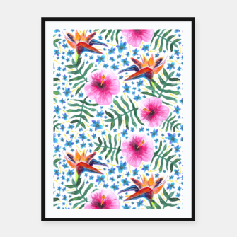Miniatur Tropical Flowers Framed poster, Live Heroes