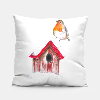 Thumbnail image of Winter Robin Pillow, Live Heroes