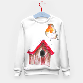 Thumbnail image of Winter Robin Kid's sweater, Live Heroes