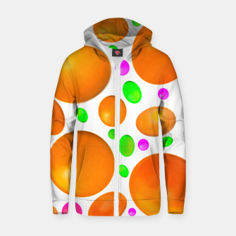 Thumbnail image of Sweet Candy Colour Orange  Sudadera con capucha y cremallera , Live Heroes
