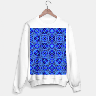 Thumbnail image of Blue Mandala Pattern Sweater regular, Live Heroes