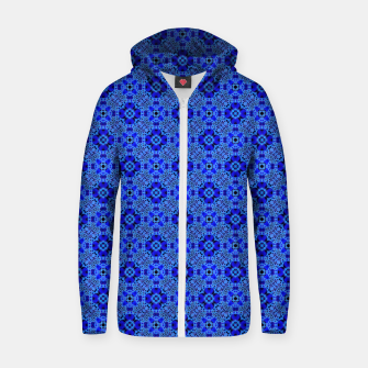 Thumbnail image of Blue Mandala Pattern Zip up hoodie, Live Heroes