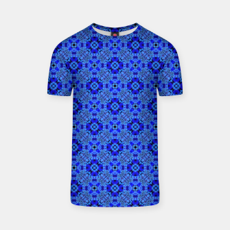 Thumbnail image of Blue Mandala Pattern T-shirt, Live Heroes
