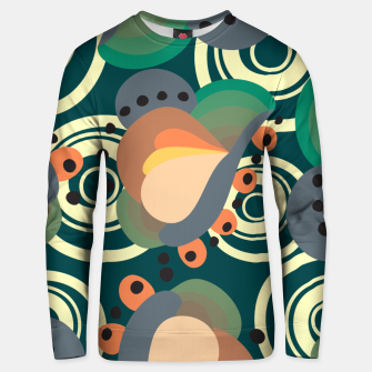 Thumbnail image of Psychedelic retro pattern Unisex sweater, Live Heroes