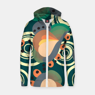 Thumbnail image of Psychedelic retro pattern Zip up hoodie, Live Heroes