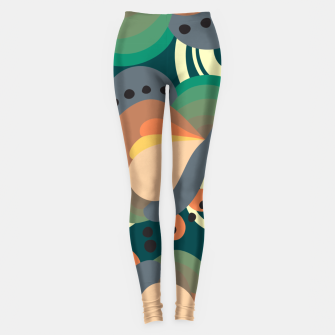 Miniatur Psychedelic retro pattern Leggings, Live Heroes